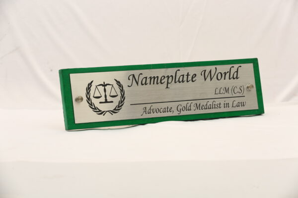 Advocate Office Name Plate