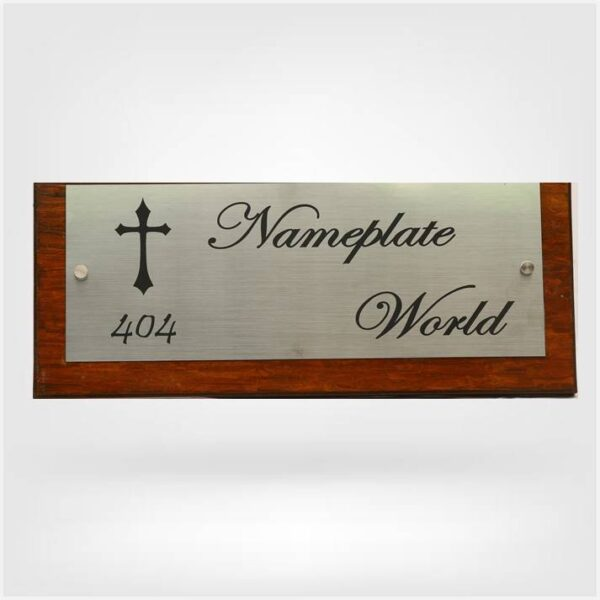 Nameplate with cross