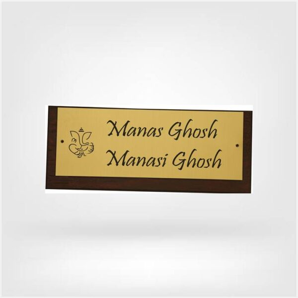 nameplate for house