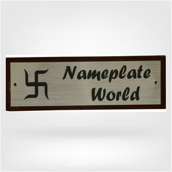 Nameplate with swastik