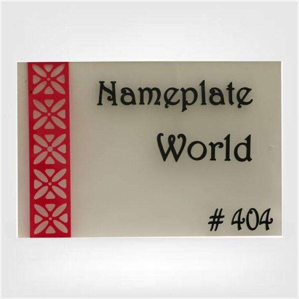 Acrylic Designer Nameplate