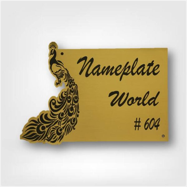 Nameplate with Peacock
